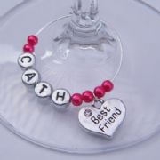 Best Friend Personalised Wine Glass Charm